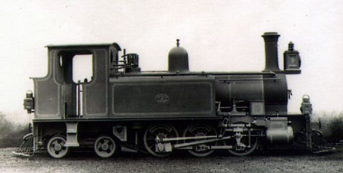 No. 3 of the Emu Bay and Mt Bischoff Railway in Tasmania. Neilson & Co built this 0-6-4T in 1888