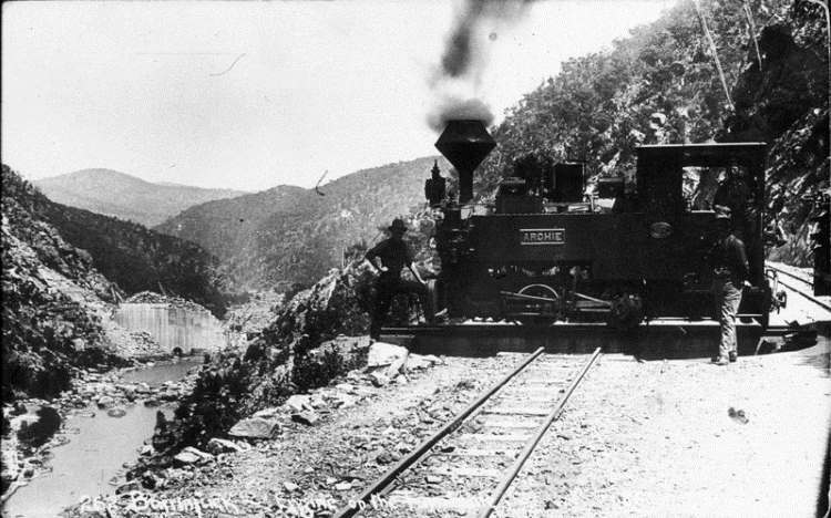 Archie, a 610 mm gauge Krauss 0-4-0T locomotive – b/n 6063 of 1908 – was ordered by the NSW Public Works Department