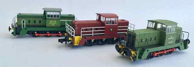 Pilot models of the first powered model to be produced by the N Gauge Society