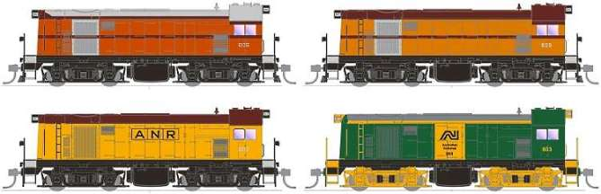 South Australian Railways 800 Class Diesel shunter in HO from SDS Models