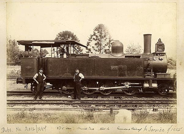 Steam engine No 77 of the QR 8D15 Class - a 2-8-2 tank loco