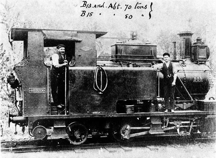 One of the first Abt tank locos in service with QR was 339 - 0-4-2T - seen in service in this photo