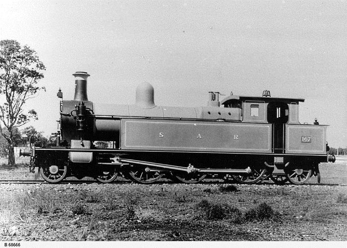 An early photo of F167, the pattern engine for the South Australian Railways F Class