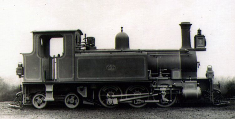 Builders Photo of No. 3 of the Emu Bay and Mt Bischoff Railway in Tasmania. Neilson & Co built this 0-6-4T in 1888. Photo courtesy of Australian National Archives.