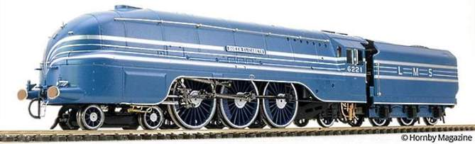 A paint sample of Hornby's streamlined Coronation class