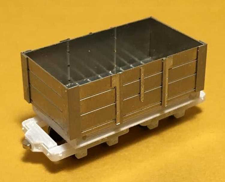 The new rolling stock kit from 6point5 Minimum Gauge - the Bede bogie coal wagon