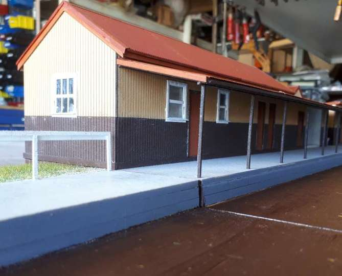 1/48 O Scale kit for VR's Cockatoo staion on the Puffing Billy line