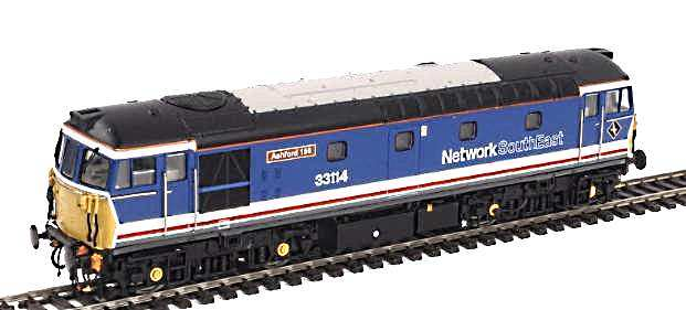 A paint sample of Heljan's latest batch of 33 Class diesels