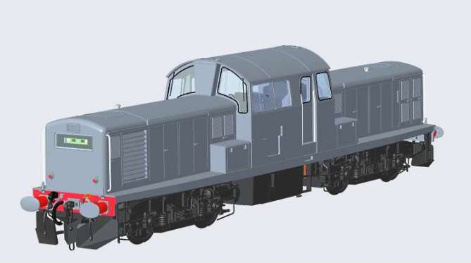 An O Scale Class 17 diesel coming from Heljan in late 2019