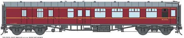 Artwork for the Lionheart O Scale Mk1 BR maroon coaches