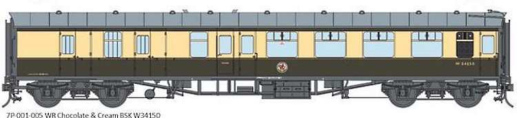 Artwork for the Lionheart O Scale Mk1 BR chocolate and cream coaches