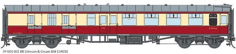 Artwork for the Lionheart O Scale Mk1 BR crimson and cream coaches
