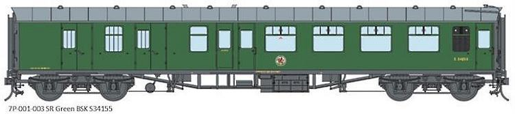 Artwork for the Lionheart O Scale Mk1 BR Southern Region Green coaches