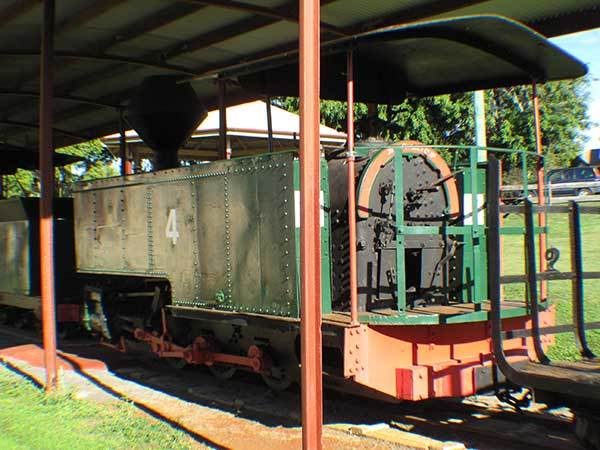 A rear view of Childers No 3 (or Isis Central Mill No 4) preserved under cover at the local museum in Childers Qld