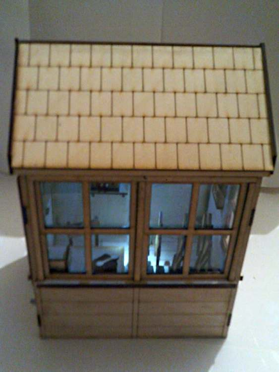 7/8th scale signal box from North Pilton Works