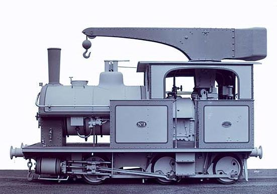 Builders photo of the QR 6D11½ Crane Class Locomotive