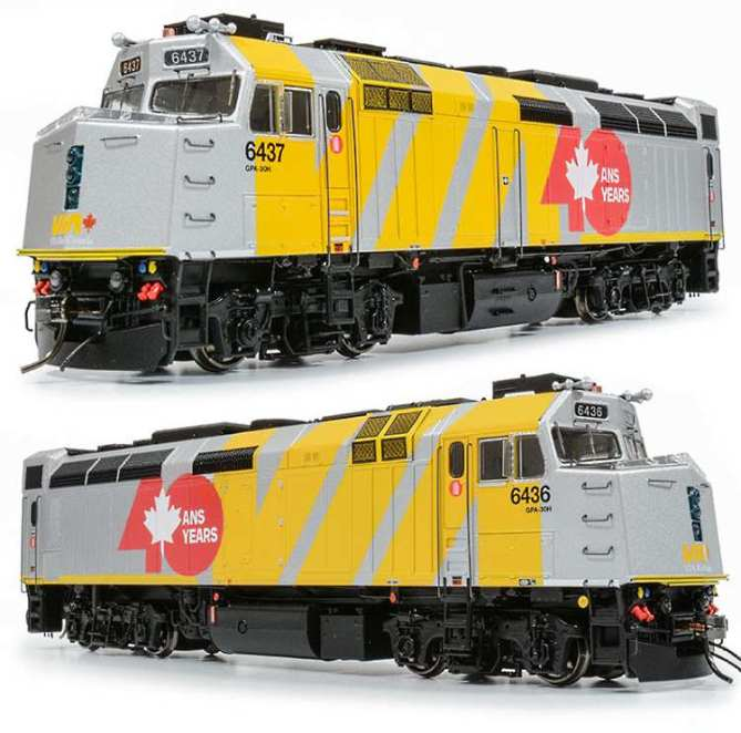 Exclusive Canada VIA F40PH-2D Loco in HO from Rapido Trains Inc