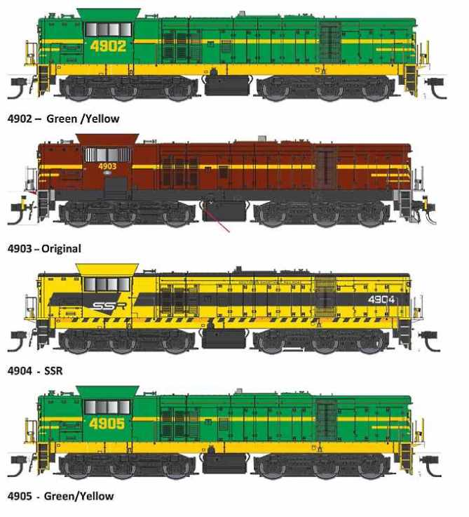 Some of the 49 Class liveries to be released by Trainorama