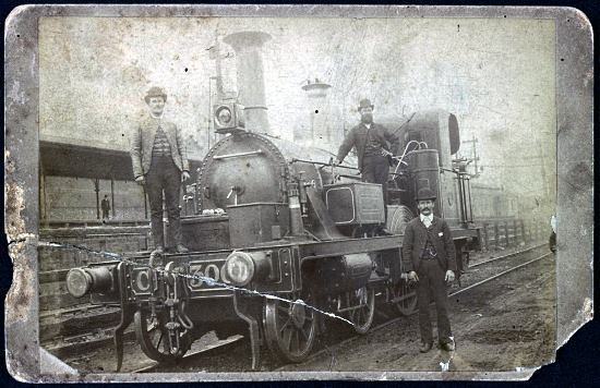 a poorly preserved photo of C Class No. 300 taken from a slightly different angle