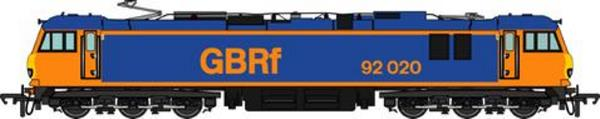The GBRf version of the OO scale Class 92 loco to be produced by Accurascale