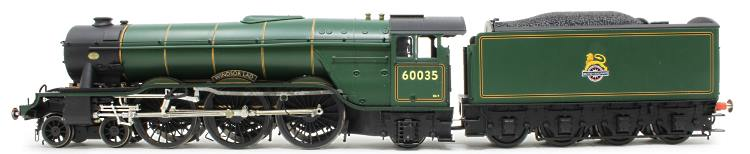 The green paint sample of Heljan's O Scale BR A3