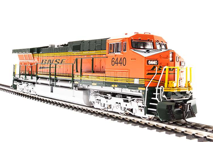 Broadway Limited's new model of the 6000hp GE AC6000CW complete with sound and variable load smoke output. in BNSF colours