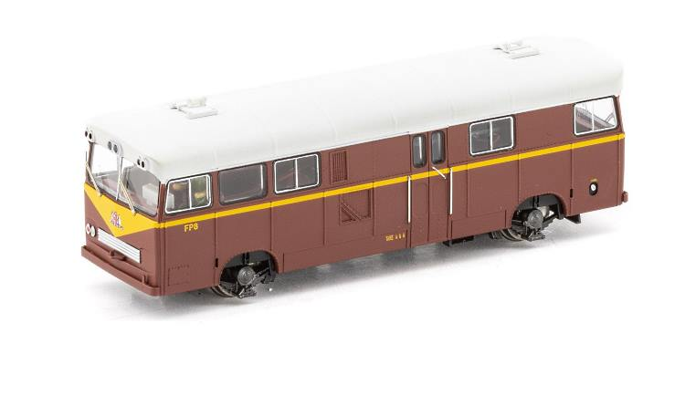 The Auscision HO scale model of the second type of NSW Pay Bus
