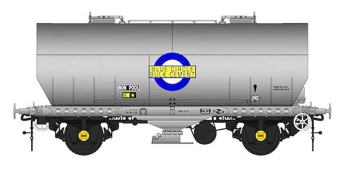One of the single car packs of the APCM Cemflo/PCV Powder Cement Wagon model to be released in OO scale by Accurascale in March
