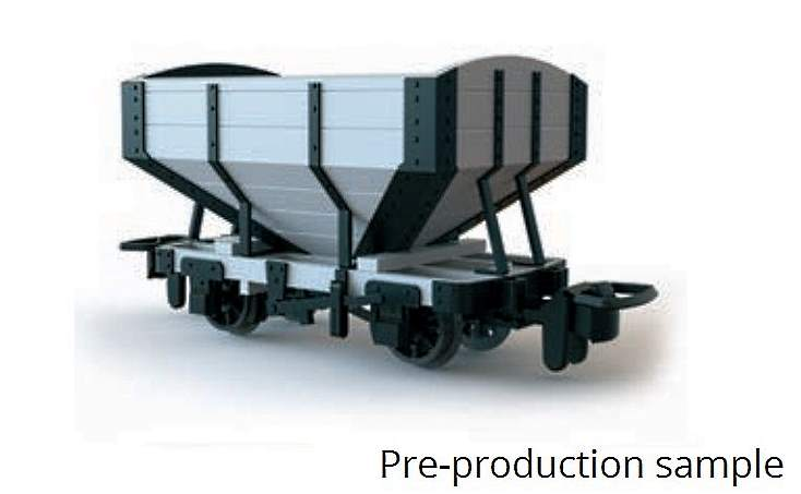 pre-production sample of the next Snail Beach OO9 hopper wagon coming later in the year from Peco