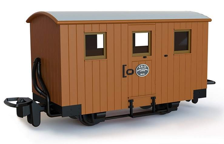 A pre-production sample of the 4-wheel Ffestiniog workman's van kit coming later in the year from Peco