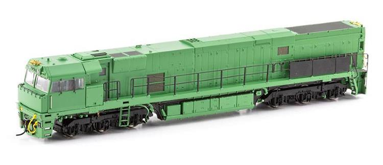 Driver's side view of the tooling sample for Auscision's new HO scale NR locomotive