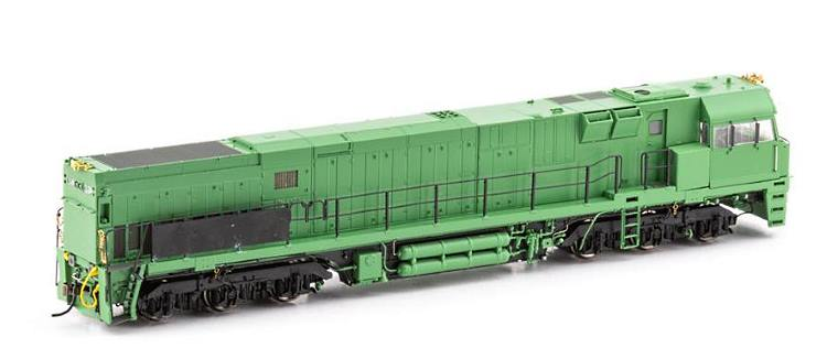 Observer's side view of the tooling sample for Auscision's new HO scale NR locomotive