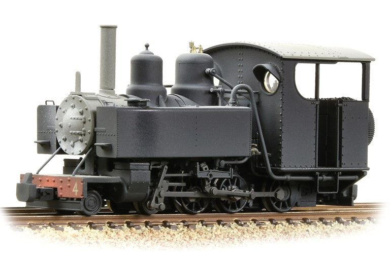 The new Snailbeach District Railway's black livery for the Bachmann OO9 steam loco that will be released later this year