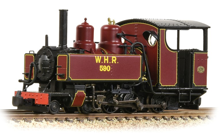The new West Highland Railway's lines maroon livery for the Bachmann OO9 steam loco that will be released later this year