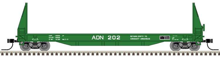 The Ashley Drew & Northern version of the new N scale 50' Seico pulpwood flat car now available from Atlas