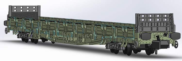 BR Engineers' Sturgeon wagon in N scale by Revolution Models - the model show includes side doors