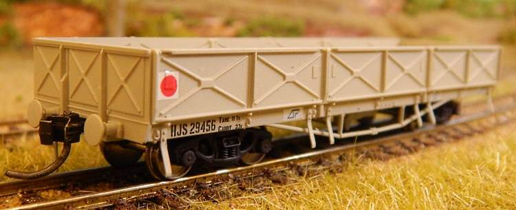 The new easy to assemble injection molded kit of a QR HJS open wagon from Wuiske Models